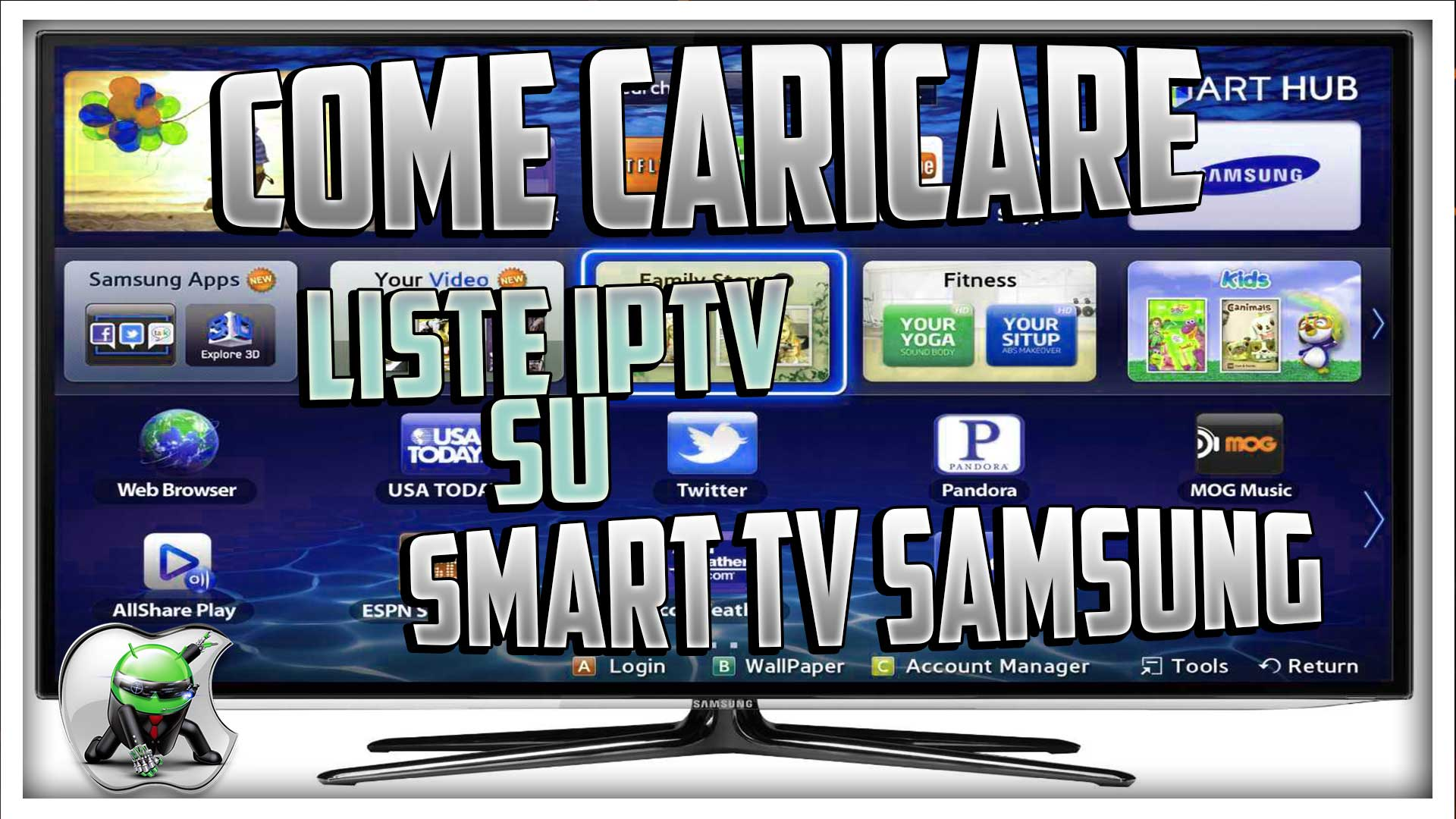 LISTE IPTV SU SMART TV SAMSUNG